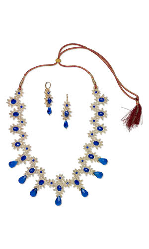 Free Jewelry Design - Single-Strand Necklace and Earring Set with Glass Beads and Seed Beadsand Beads