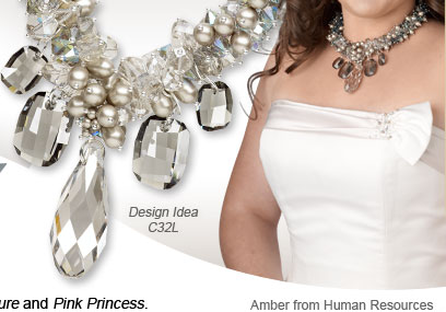 Amber from Human Resources: Design Idea C32L Necklace and Earring Set