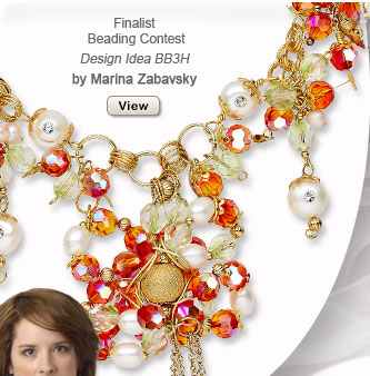 Finalist Beading Contest: Design Idea BB3H Necklace and Earring Set, by Mariana Zabavsky