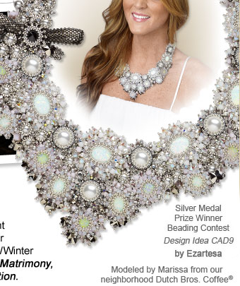 Silver Medal Prize Winner Beading Contest: Design Idea CAD9 Necklace, by Ezartesa