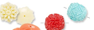 Resin Flower Beads and Components
