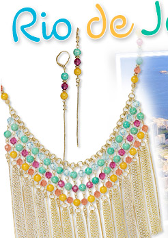 Design Idea K32J Bib-Style Necklace and Earring Set