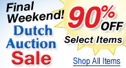 Dutch Auction Sale Final Weekend! Now 90% Off Select Ite