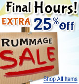 Rummage Sale Additional 25% Discounts - Final Hours