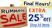 Rummage Sale Additional 25% Discounts - Final Day