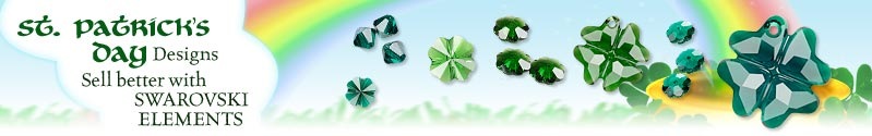 St. Patricks Day Designs with Swarovski Elements
