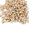 Bead, bamboo (natural), 3x2mm-5x3mm round tube. Sold per pkg of 100.