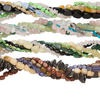 Bead mix, multi-gemstone (natural / stabilized / dyed / heated) and glass, mixed colors, medium-extra large chip and mini to large nugget. Sold per pkg of (5) 15-inch strands.