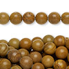 "Bead, tigerskin ""jasper"" (natural), 8mm round, C grade, Mohs hardness 4 to 5. Sold per pkg of (10) 16-inch strands."