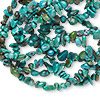 Bead, turquoise (dyed / stabilized), small chip, Mohs hardness  5 to 6. Sold per 34-inch strand.