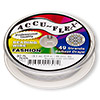 Beading wire, Accu-Flex®, nylon and stainless steel, pearl, 49 strand, 0.019-inch diameter. Sold per 30-foot spool.