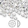 Flat back, Swarovski® crystal rhinestone, Crystal Passions®, crystal clear, foil back, 4.6-4.8mm Xirius rose (2088), SS20. Sold per pkg of 144 (1 gross).