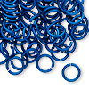Jumpring, anodized tempered aluminum, dark blue, 10mm round, 15 gauge. Sold per pkg of 100.