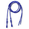 Necklace cord, silicone, opaque cobalt, 2-2.2mm wide, 16 inches with snap closure. Sold per pkg of 4.