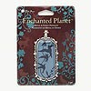 "Pendant, Blue Moon Beads®, antiqued silver-finished ""pewter"" (zinc-based alloy) and epoxy, clear and blue, 55x31mm rounded rectangle with bird design, steel bail. Sold individually."