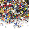 Seed bead mix, Matsuno® and Miyuki, glass, mixed colors, #8 / #11 / #15 round. Sold per 100-gram pkg, approximately 11,000 beads.